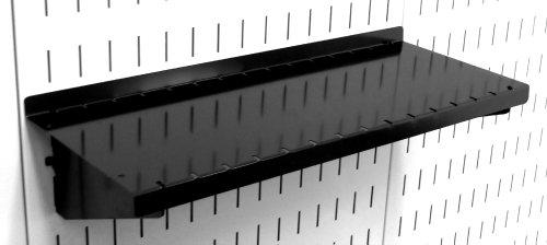 Wall Control Pegboard Shelf 6In Deep Pegboard Shelf Assembly For Wall Control Pegboard And Slotted Tool Board - Black