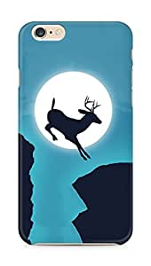 Amez designer printed 3d premium high quality back case cover for Apple iPhone 6s Plus (Deer jump moon sky creative)