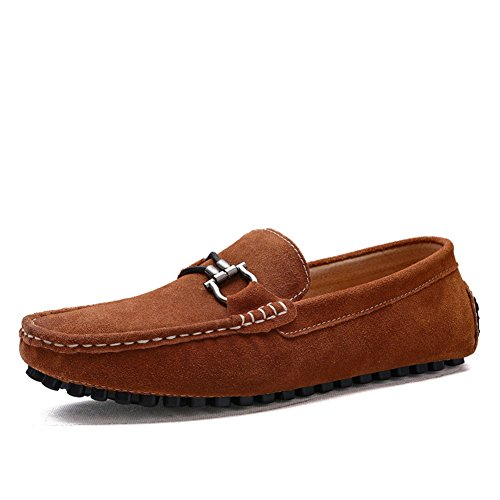 enllerviid s flat heel buckle driving car loafers