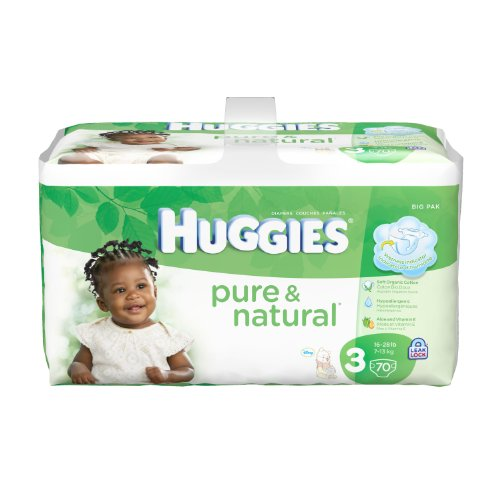 Huggies Natural Diapers Count Packaging