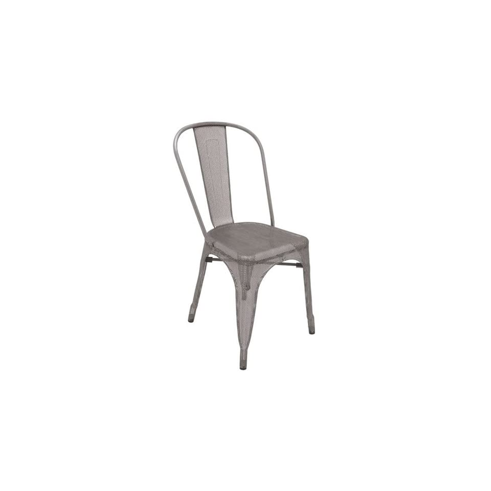 Nuevo Living Grille Dining Chair in Galvanized Steel