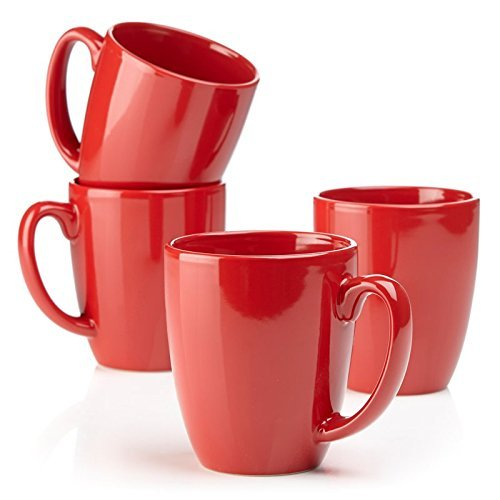 Corelle® for Joy Precious Colours Premier 4-piece Set of Mugs (Ruby Red) (Ruby Red Corelle compare prices)