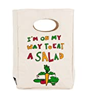 FLUF EAT A SALAD Lunch Bag, 11-Inch L by 8-Inch W by 4-1/2-Inch D