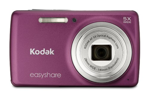 Kodak EasyShare M552 14 MP Digital Camera with 5x Optical Zoom and 2.7-Inch LCD - Dark Pink (New Model)