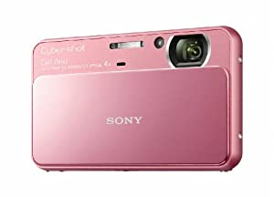 Sony Cyber-Shot DSC-T110 16.1 MP Digital Still Camera with Carl Zeiss Vario-Tessar 4x Optical Zoom Lens and 3.0-inch Touchscreen (Pink)