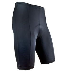 Men's Black P. Padded Bike Shorts SMALL BLACK