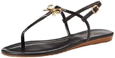 kate spade new york Women's Tracie Dress Sandal,Black/Patent/Nappa,8.5 M US