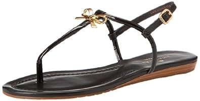 kate spade new york Women's Tracie Dress Sandal,Black/Patent/Nappa,6 M US
