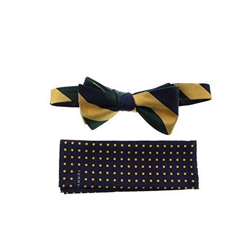 Tommy Hilfiger Mens Silk Stripe Bow Tie Navy O/S