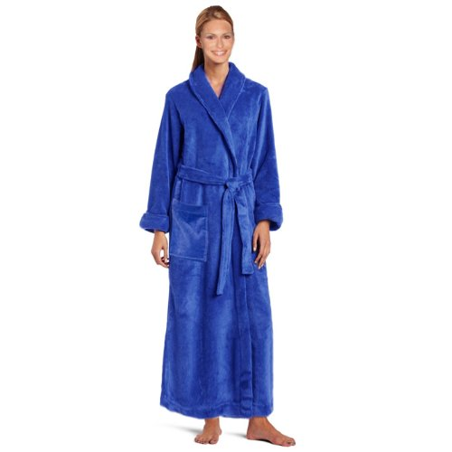 Royal Resort Collection: Luxury Shawl Robe - Terry Velour BathRobe, 100% Turkish Cotton, Color: Imperial Blue, UNISEX - Size: Universal
