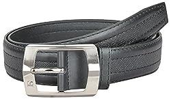 Kalewensen Men's Synthetic Belt (Black, 112 cm )