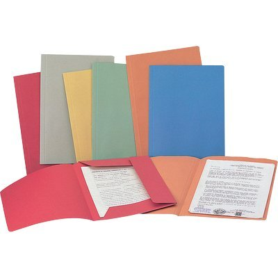 Rexel Spring Light Cartellina Portadocumenti A4/Protocollo 3, Lembi in Cartoncino, Rosso, 50 Pezzi