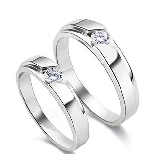 Exceptionnel DEHANG – Bague Couple Amoureux en Argent 925 Couple Rings Femme  SY81