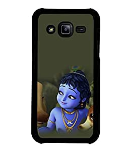printtech Lord God Krishna Cartoon Back Case Cover for Samsung Galaxy J2::Samsung Galaxy J2 J200F