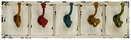 Benzara Beautiful Country Inspired Wood Metal Wall Hooks front-798192