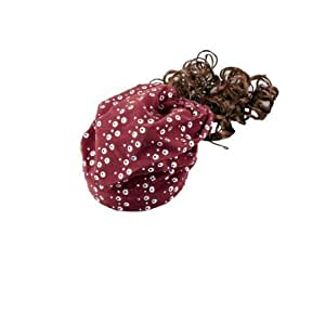 Glittery Sequins Detail Curly Wig Periwig Hairpiece Red Hat for Girls