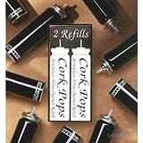 2 Nachfüllkartuschen für Weinflaschen-Korkenheber