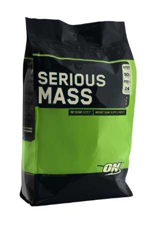 Optimum Nutrition Serious Mass, Rich Chocolate, 12 Pound