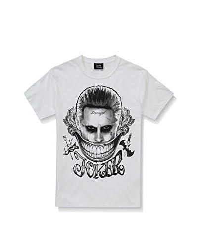 DC COMICS Camiseta Manga Corta Joker Smile Blanco