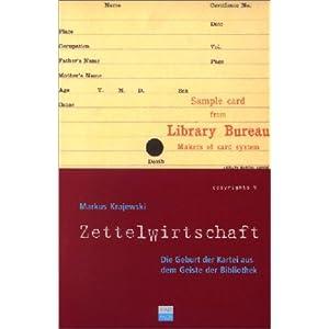 eBook Cover für  Zettelwirtschaft Die Geburt der Kartei aus dem Geiste der Bibliothek