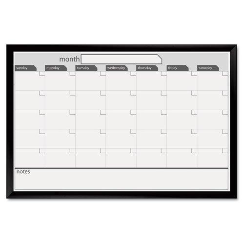 Board Dudes 24-Inch x 36-Inch Black Aluminum Framed Magnetic Dry Erase Calendar (17006)
