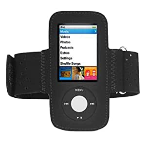 DIGIFLEX Black Sports Gym Jogging Armband for New Apple iPod Nano 5th Generation 5G (with Video Camera) 8GB & 16GB