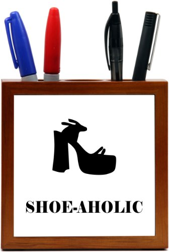 Rikki Knighttm Shoeholic Funky Sandal Design 5 Inch Tile Wooden Tile Pen Holder front-609627
