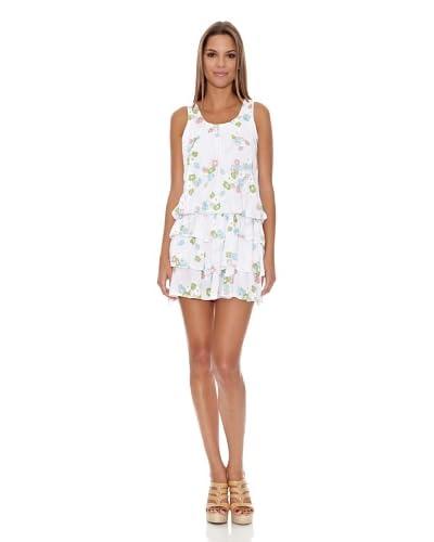 Assuili Vestido Flor Blanco