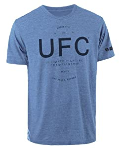 UFC Men's Authentic Tee, Royal Heather, X-Large