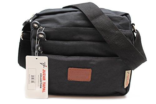 womens-causal-cross-body-bag-mother-michelle-handbag-canvas-strap-jtc-91551-kbb-black