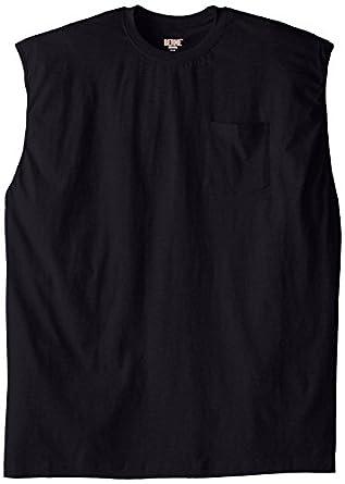 Berne men 39 s big tall extra heavyweight for Tall sleeveless t shirts