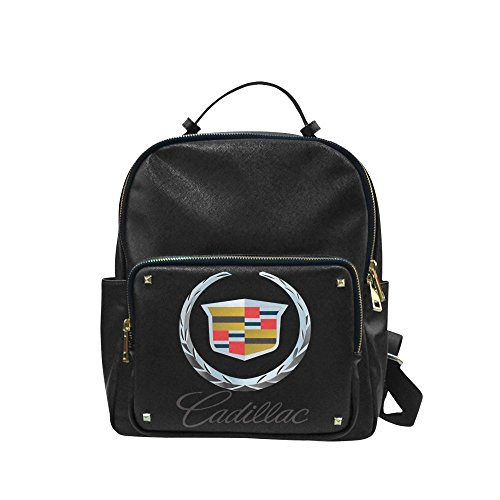 DOROT Cadillac Logo Unisex Leisure Backpack School Leisure Shoulder Bag (Mark New York Leather compare prices)