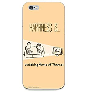 MiiCreations 3D Printed Back Cover for Apple Iphone 6,Happiness Is Watching Game Of Thrones