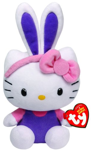 Ty Beanie Babies Hello Kitty with Purple Ears Plush - 1