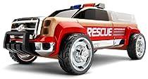 Automoblox T900 Rescue Truck, Red/Chrome