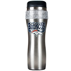 NFL Denver Broncos 16-Ounce Stainless Steel Bling Tumbler by Great American Products