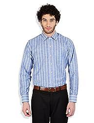 Arihant Men's Linen Striped Formal Shirt (AR73150142)