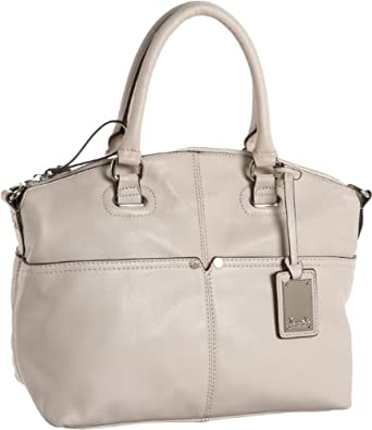 Tignanello Women's Polished Pockets T92910 Convertible Satchel,Sand,One Size