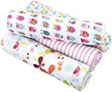 zutano for aden by aden + anais 100% Cotton Muslin Swaddle Blanket, Walk In The Park, 4 Count