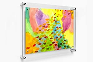Wexel Art 1419 Rectango Floating Acrylic Frame with Magnets, for 11x17 images by Wexel Art