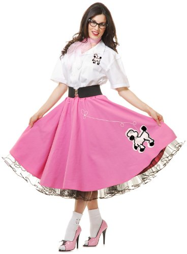 Complete 50's Poodle Outfit Pink Costume