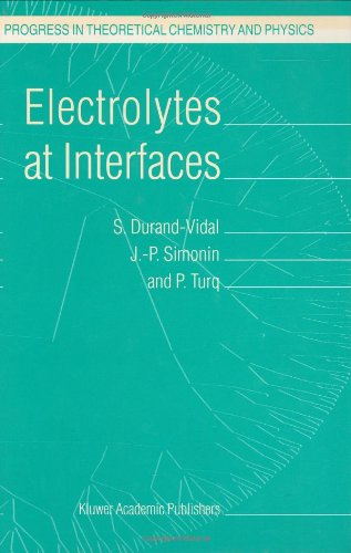 Electrolytes At Interfaces (Progress In Theoretical Chemistry And Physics)