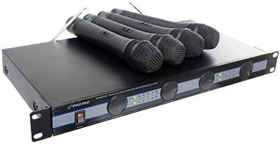 PYLE-PRO PDWM5000 - 4 Mic VHF Wireless Microphone System by Pyle Pro