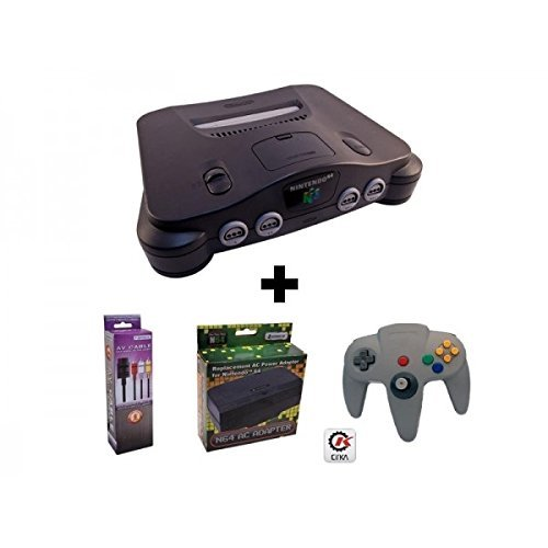 Refurbished Nintendo 64 Tested System Pack - 1 N64 (Used Tested System),1 Av Cable, 1 Ac, 1 Cirka Controller)
