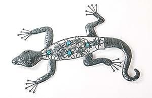 Décoration, gecko en métal