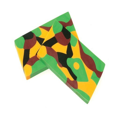 Set of 12 Camouflage Camo Erasers