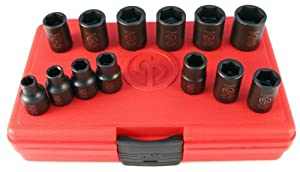"Chicago Pneumatic SS3113 3/8"" Drive 13 Piece Metric Impact Socket Set from Chicago Pneumatic"
