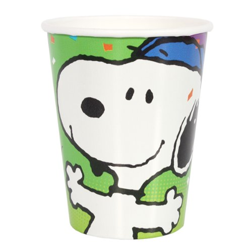 Snoopy Peanuts 9oz Hot/Cold Paper Party Cups - 8 per package