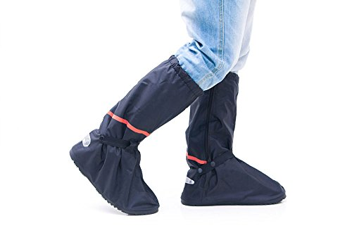 Wingstore Motorcycling Foldable Flat Waterproof Recycled PVC Men Rain Shoes Covers for Outdoor Cycling 2pcs/set (Extra Large) (Bicycle Rain Gear For Men compare prices)