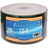 Optical Quantum 52x 700 MB 80 Minute White Inkjet Printable Recordable Disc CD-R, 50-Disc Spindle